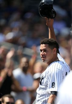 I can't help but make a connection to our very own catcher phenom Gary Sanchez and fictional character Joe Hardy, the protagonist of t. Damn Yankees, New York Yankees Baseball, Ny Yankees, Gary Sanchez, Read Newspaper, My Love, Joe Hardy, Sports Teams, City Life