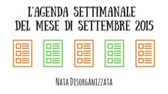 agenda settimanale settembre 2015