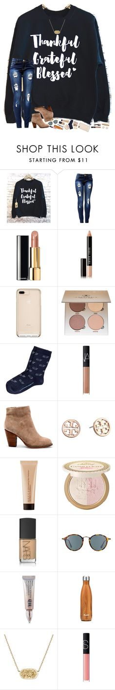 """""""thankful, grateful, blessed 💞"""" by hopemarlee ❤ liked on Polyvore featuring Chanel, Bobbi Brown Cosmetics, Anastasia Beverly Hills, NARS Cosmetics, Sole Society, Tory Burch, Becca, Power of Makeup, Ray-Ban and Urban Decay"""