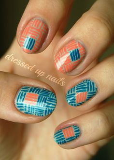 pattern --> use for September geometry challenge!!    (c) Dressed Up Nails