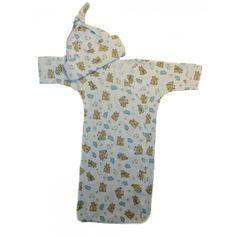 Baby Boys' Sleepy Bear Bunting Gown and Cap Baby Boy Gowns, Sleepy Bear, Micro Preemie, Preemie Babies, Baby Bunting, Baby Boys, Cap, Baseball Hat, Boy Babies