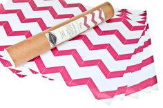Pink Chevron Scented Drawer Liners