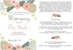 Blessingway Invitations | cannot express the love I felt on this very special day. It is ...