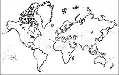 Editable vector rough outline sketch of a world map royalty free grunged outline world royalty free stock vector art gumiabroncs Gallery