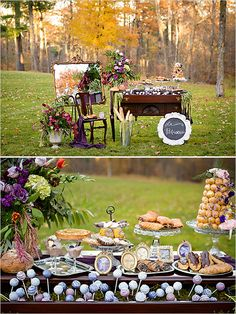 Fun wedding dessert table. Photo by Purrington Photography