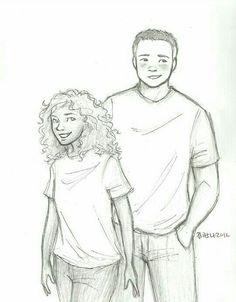 Frank y Hazel. Frank esta coloradooo <3