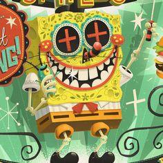 Spongebob at Gallery Nucleus | Illustrator: Steve Simpson