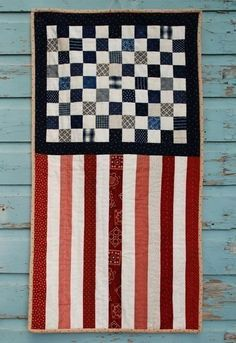 American Flag Quilt - I like the subtlety.... how would I do a second one? a Canadian one?