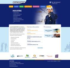 Conception et réalisation du site web de l'agence de travail temporaire au Havre Rentpower - www.rentpower.fr #website #siteweb #webagency #agenceweb #opteam #lehavre #normandie #normandy #emploi #interim