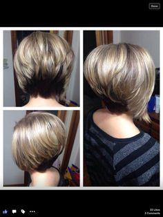 Asymmetric bob. Highlights and 3V underneath :) my actual hair