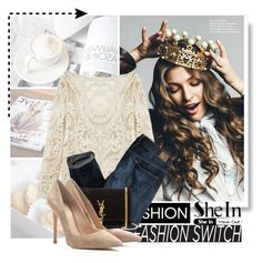 """""""My princes"""" by sooni ❤ liked on Polyvore featuring Karl Lagerfeld, Savanna, American Eagle Outfitters, Yves Saint Laurent, Gianvito Rossi, women's clothing, women, female, woman and misses"""
