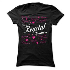 KRYSTAL THING AWESOME SHIRT - #lace sweatshirt #sweater for fall. CHECK PRICE => https://www.sunfrog.com/Names/KRYSTAL-THING-AWESOME-SHIRT-Ladies.html?68278