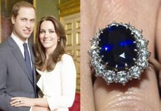 Catherine Middleton from Prince William. This was the same engagement ring that Prince Charles gave to William's mother, Lady Diana.