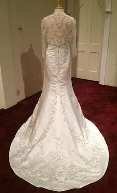 Bonny 711 strapless embroidery sheer jacket 14: buy this dress for less on PreOwnedWeddingDresses.com
