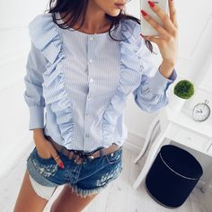Encontrar Más Blusas y camisas Información acerca de Nueva OYDDUP 2017 Mujeres Del Invierno Del Otoño Lindo botón de La Colmena Delgada Blusa O cuello de Manga Larga Casual de Las Señoras camisetas, alta calidad ladies casual shirts, China slim blouse Proveedores, barato ladies shirts de Sesame flowering Store en Aliexpress.com