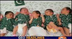 Newborns celebrating independence day 2016,#Pakistan