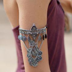 Charmed Coins Arm Bracelet - Nectar Clothing
