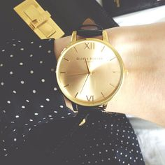 Black and Gold Accessories. BoBelle Berkeley Bag  Olivia Burton watch