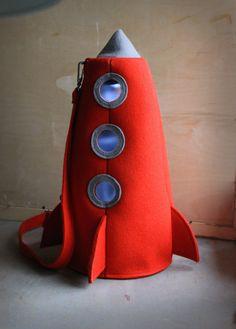 Red felt rocket bag.