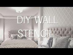 Bedroom Update: Stencil Wall | DIY Wallpaper Effect