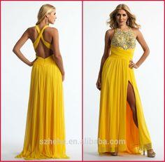 Resultado de imagem para vestido de festa amarelo plus size