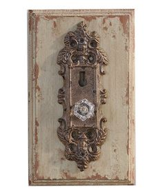 Take a look at this Cream Doorknob Wall Art by Giftcraft on #zulily today!