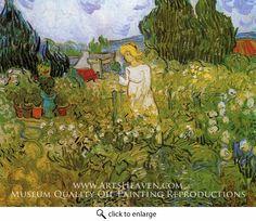 Marguerite Gachet in the Garden, 1890. Vincent van Gogh