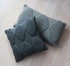 diamond bobble crochet cushions