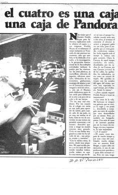 Extracto de entrevista a Freddy Reyna. Publicado el 22 de noviembre de 1982 en la Revista Pandora.