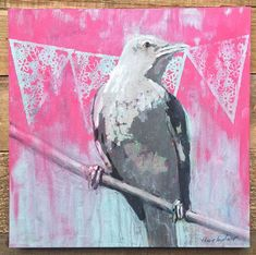 Painting A Day Archives - Ashley Hackshaw / Lil Blue Boo Journal Art, Art Journals, Drawing Board, Handmade Books, Art Styles, Mixed Media Collage, Creative Thinking, Journalling, Bird Art