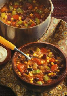 5 servings of veggies a day? Try 5 in one bowl. One Pot Vegetarian Stew.