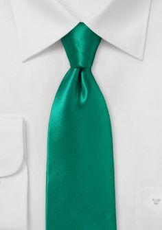 Krawatte italienische Seide edelgrün unifarben