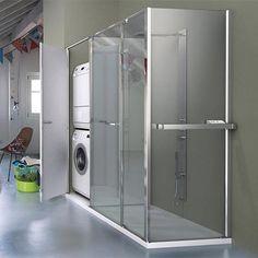 Réalisez une #douche #pratique grâce aux #parois de douche chauffantes #Vismara #Twin ! Constituée de deux modules : l'un est prévu pour la douche et l'un autre pour le rangement. Le tout séparé par un verre émaillé blanc très design. L'espace de douche est suffisamment grand pour vous apporter un confort optimal, tandis que le second emplacement est idéal pour y intégrer - en toute discrétion - un appareil #électroménager. Sublimez votre #salledebain avec cette solution #gaindeplace !