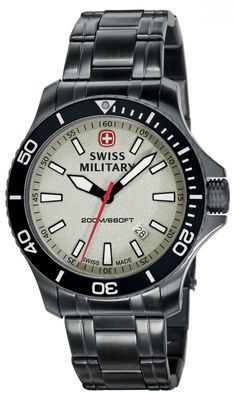 Swiss Military Sea Force SS My dad would love this. Wenger Watches, Rolex Watches, Brand Name Watches, Watch Sale, Stainless Steel Bracelet, Casio Watch, Bracelet Watch, Jewelry Watches, Bracelets