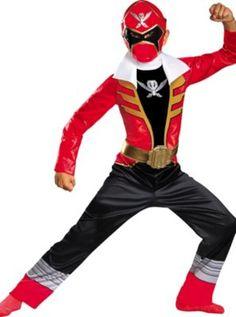 Boys Red Ranger Costume - Power Rangers Super Megaforce ---For E!