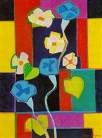 Composition pour campanules bleues von France Wagner