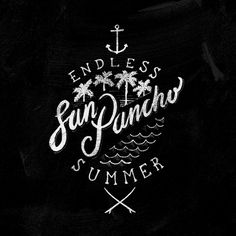 Surf Lettering by Don Juel, via Behance