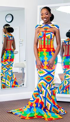25 Best Ghanaian Kente Styles 2018 To Choose Your Designs African Fashion Designers, African Inspired Fashion, African Dresses For Women, African Print Dresses, African Print Fashion, Africa Fashion, African Attire, African Wear, African Fashion Dresses