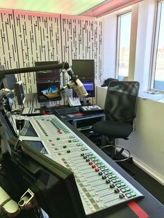 Chérie FM studio in France