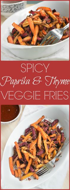 Spicy Paprika Thyme Veggie Fries with Paleo & Gluten Free Homemade BBQ Sauce - a delicious mix of Carrots, Beetroots and Parsnips.
