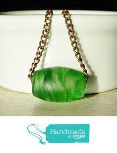 Green Beaded Copper Chain Choker Necklace / Minimalist Jewelry from DonkeyandtheUnicorn http://www.amazon.com/dp/B0180UWB6C/ref=hnd_sw_r_pi_dp_Spmswb13XQY19 #handmadeatamazon
