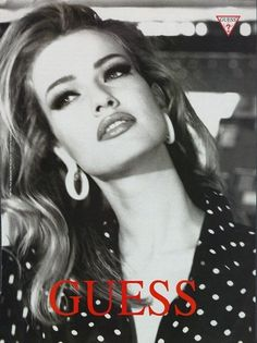 Karen photographed by Ellen von Unwerth for GUESS, Las Vegas 1991 ❤ Ellen Von Unwerth, Guess Models, 90s Models, Claudia Schiffer, Guess Campaigns, Ad Campaigns, Modelos Guess, Guess Ads, Alyssa Miller