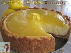 Lemon -Glazed Cheesecake-yup my favorite things combined!