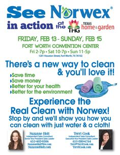 norwex at the texas home and garden show in forth worth february and stop by and see what norwex is all about - Norwex Party Invitation