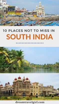 10 places to visit in South India: popular and off the beaten path destinations in Kerala, Karnataka and Tamil Nadu - Incredible India! Discover these 10 places to visit in South India across the states of Kerala, Ka - India Travel Guide, Asia Travel, Solo Travel, Vietnam Travel, Agra, Kerala, New Delhi, Jodhpur, Amazing Destinations