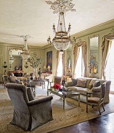 Traditional Living Room Kara Childress Inc Houston Texas