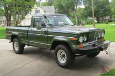 The Gladiator name was dropped after 1971, after which the line was known simply as the Jeep pickup with J2000 and J4000 models until 1973 then J10 and J20 from 1974 to 1988. Description from pickupnearyou.com. I searched for this on bing.com/images