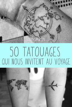 Des idées de tatouages sur le thème de l'évasion. Trouvez l'inspiration pour un tattoo de voyage ! /// #aufeminin #tatouage #tatouer #voyage #poignet #bras #epaule #cheville