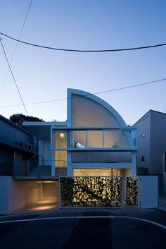 Hanegi Park House, Tokyo, Japan by Shigeru Ban Architects.