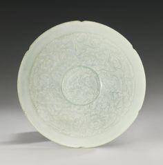 A 'QINGBAI' LOBED 'BOYS AND LOTUS' BOWL SONG DYNASTY Lotus, Tokyo, China Art, China China, Chinese Words, Chinese Ceramics, Bowl, Ceramic Art, Art Decor